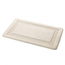 Grecian Memory Foam Bath Mat Cream
