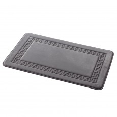 Grecian Memory Foam Bath Mat Grey