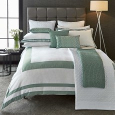 Imperial Bedding Aqua/White