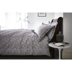 Bianca Sprig Cotton Bedding Jacquard Grey