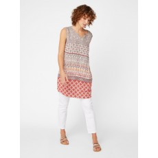 White Stuff Magdelena Tunic Desert Red Print