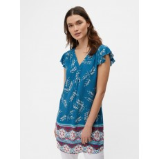 White Stuff Poisedon Tunic Paradise Teal Print