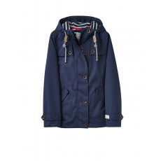Joules Coast Waterproof Cotton Canvas Coat French Navy