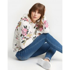 Joules Marlston Print Hooded Sweatshirt Cream Chinoise
