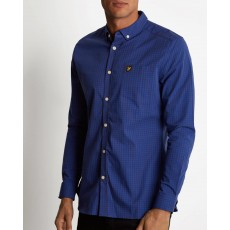 Lyle & Scott LS Slim Fit Gingham Shirt Blue