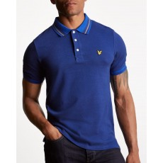 Lyle & Scott Oxford Slub Polo Shirt Blue