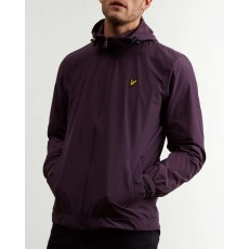 Lyle & Scott Zip Through Hooded Jacket Deep Plum