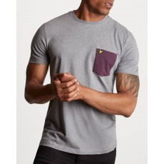 Lyle & Scott Contrast Pocket T-Shirt Mid Grey Marl