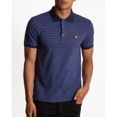 Lyle & Scott Feeder Stripe Polo Shirt Blue