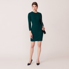 Gant Stretch Cotton Cable Dress Ponderosa Pine