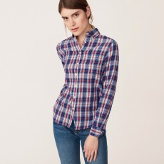Gant Winter Flannel Madras Shirt Eggshell