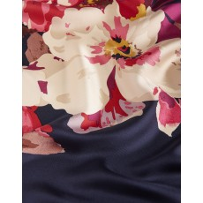 Joules Blomfield Silk Scarf French Navy Bircham Bloom