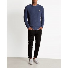 Lyle & Scott Rib Jumper Indigo Blue