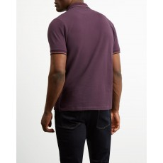 Lyle & Scott Tipped Polo Shirt Deep Plum