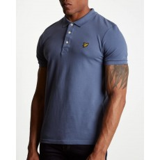 Lyle & Scott Slim Stretch Polo Shirt Indigo Blue
