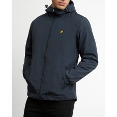 Lyle & Scott Micro Fleece Lined Zip Through Hooded Jacket Navy