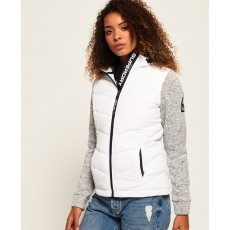 Superdry Storm Hybrid Ziphood Grey/White