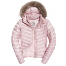 Superdry Hooded Luxe Chevron Fuji Rose Quartz