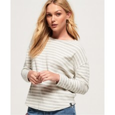 Superdry Brookes Soft Touch Top Grey Stripe