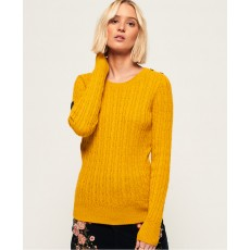Superdry Croyde Cable Knit Ochre