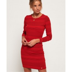Superdry Aria Bodycon Dress Red