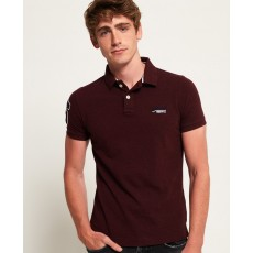 Superdry Classic S/S Pique Polo Burgundy