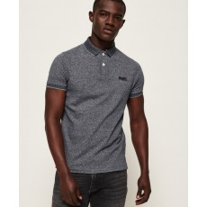 Superdry Classic S/S Jacq'd Jersey Polo Grey