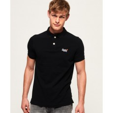 Superdry Classic S/S Pique Polo Black
