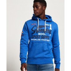 Superdry 500CC Moto X Hood Grit Royal