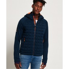Superdry Storm Quilted Ziphood Navy