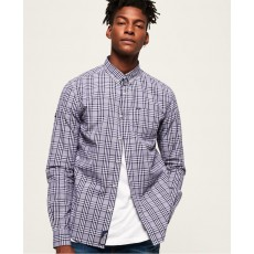 Superdry Ultimate Univeristy Oxford Shirt Blue Navy Check