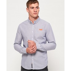 Superdry Premium Button Down Shirt Pale Royal Mini Stripe