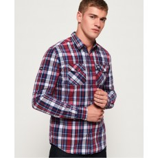 Superdry Washbasket Shirt Rugby Navy Check