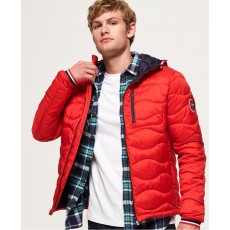 Superdry Wave Quilt Jacket Red
