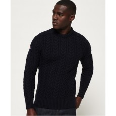 Superdry Jacob Crew Navy/Black Twist