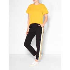 French Connection Crepe Light Puff Sleeve Top Calluna Yellow