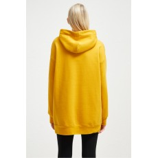 French Connection Alvar Sweat Jersey Long Hoodie Calluna Yellow