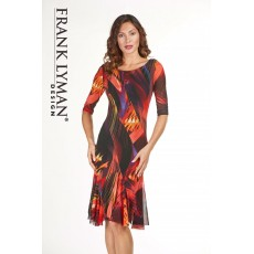 Frank Lyman Dress Red & Black