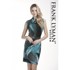 Frank Lyman Dress Charcoal/Jade