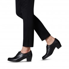 Tamaris Lace up Shoe Black Leather