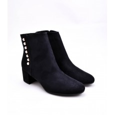 Tamaris Button Detail Boot Black