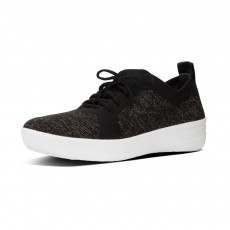 Fitflop F-Sporty Uberknit Sneakers Metallic Weave Black/Bronze