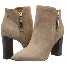 Caprice Sand and Suede Heeled Boot