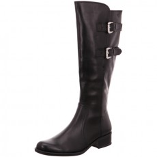 Caprice Black Nappa Long Buckle Boot