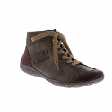 Rieker High Top Sneaker Brandy