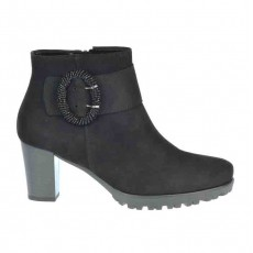 Gabor Buckle Boot Black