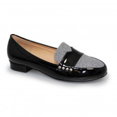 Lunar Vesta Grey Felt Loafer
