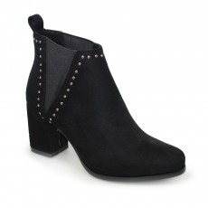 Lunar Nyla Black Elasticated Ankle Boot