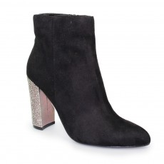 Lunar Ameera Black High Heel Fashion Boot