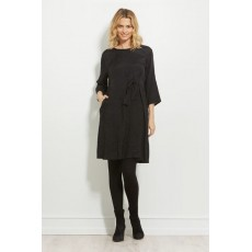 Masai Nonie dress 3/4 sleeve Black